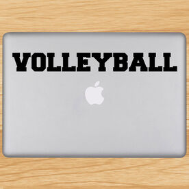Volleyball Written Out Removable ChalkTalkGraphix Laptop Decal