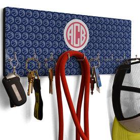 Basketball Hook Board Monogram with Basketball Pattern