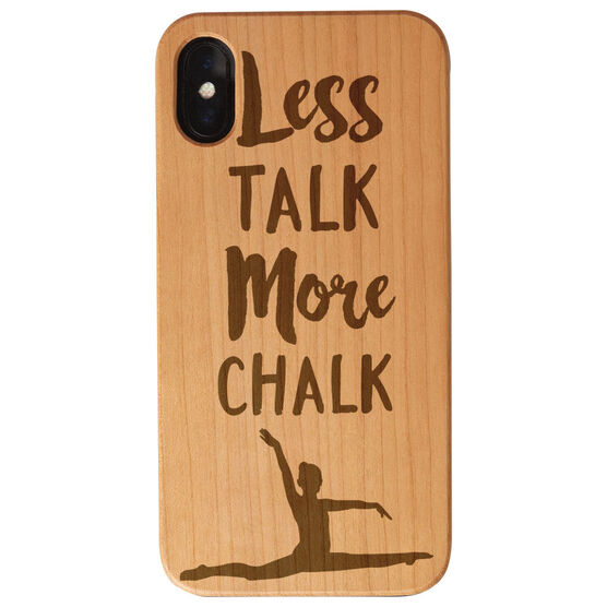 Gymnastics Engraved Wood IPhone® Case - Less Talk More Chalk
