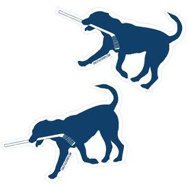 Hockey Stickers - Rocky The Hockey Dog (Set of 2)