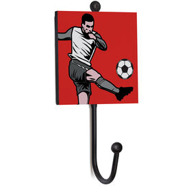 Soccer Medal Hook - Closeup Player