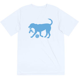 Volleyball Short Sleeve Tech Tee - Holly The Volleyball Dog