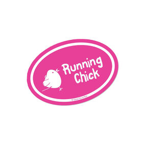 Running Chick Pink Mini Car Magnet - Fun Size