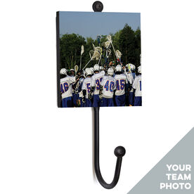 Guys Lacrosse Medal Hook - Your Team Photo