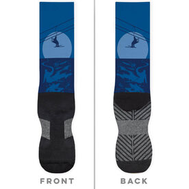 Skiing Printed Mid-Calf Socks - Endless Skiing