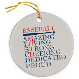 Baseball Porcelain Ornament - Mother Words