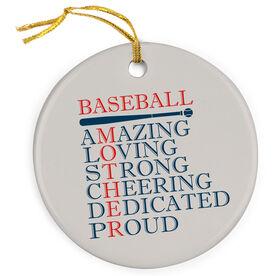 Baseball Porcelain Ornament - Mother Words