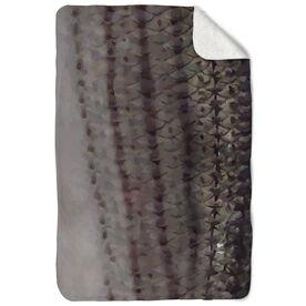 Fly Fishing Sherpa Fleece Blanket - Striper