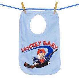 Hockey Baby and Puck Bib