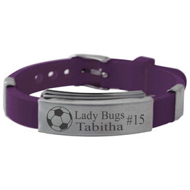 Personalized Soccer Ball Silicone Bracelet