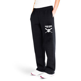 Baseball Fleece Sweatpants - Team Name With Crossed Bats