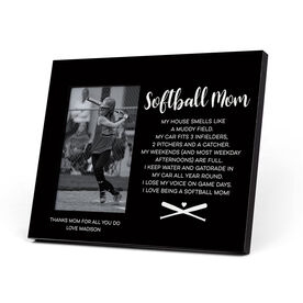 Softball Photo Frame - Softball Mom Poem