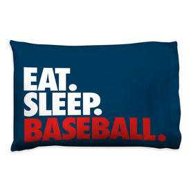 Baseball Pillowcase - Eat Sleep Baseball