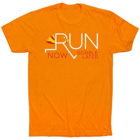 Running Short Sleeve T-Shirt - Let's Run Now Gobble Later
