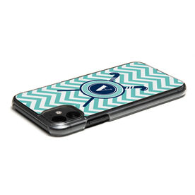 Field Hockey iPhone® Case - Personalized with Crossed Sticks and Chevron