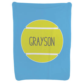 Tennis Baby Blanket - Personalized Tennis Ball