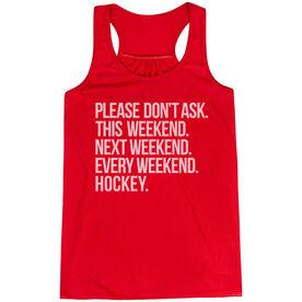 Hockey Flowy Racerback Tank Top - All Weekend Hockey