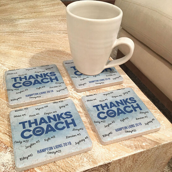Hockey Stone Coasters Set of Four - Coach (Autograph)