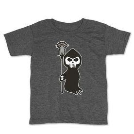 Guys Lacrosse Toddler Short Sleeve Tee - Lacrosse Reaper