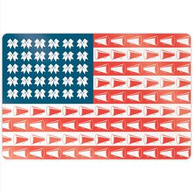 "Cheerleading 18"" X 12"" Aluminum Room Sign - Cheer For America"