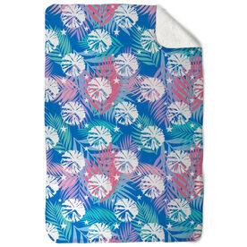 Cheerleading Sherpa Fleece Blanket - Tropical Palm
