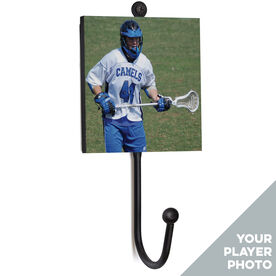 Guys Lacrosse Medal Hook - Your Player Photo