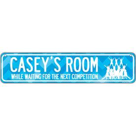"Cheerleading Aluminum Room Sign Personalized Cheer Room (4""x18"")"