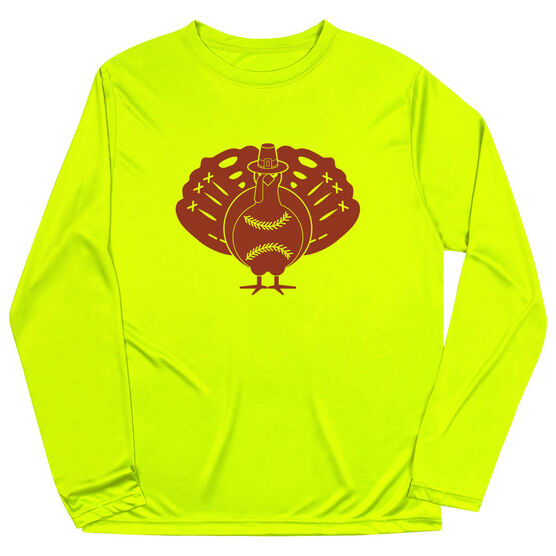 Softball Long Sleeve Performance Tee - Turkey Player