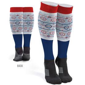 Hockey Printed Knee-High Socks - Ice Rink