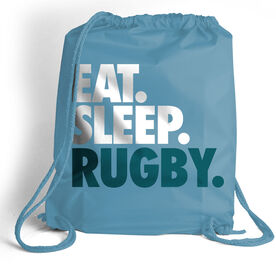 Rugby Sport Pack Cinch Sack Eat. Sleep. Rugby.