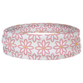 Softball Multifunctional Headwear - Softball Flower Pattern RokBAND
