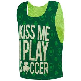 Soccer Pinnie - Kiss Me I Play Soccer
