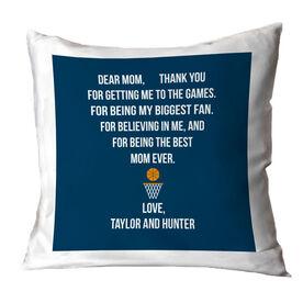 Basketball Throw Pillow - Dear Mom Heart
