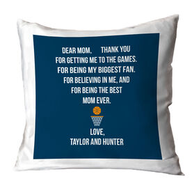 Basketball Throw Pillow - Dear Mom Heart