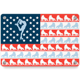 Figure Skating Metal Wall Art Panel - American Flag