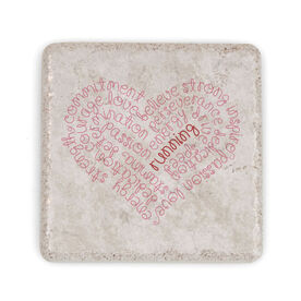 Running Stone Coaster - Inspiration Heart