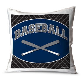 Baseball Throw Pillow Baseball Crossed Bats