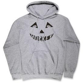 Hockey Hooded Sweatshirt - Hockey Pumpkin Face
