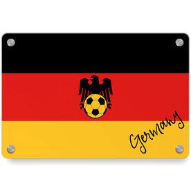 Soccer Metal Wall Art Panel - Germany