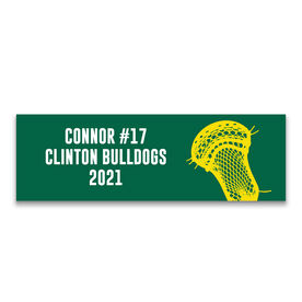 "Guys Lacrosse 12.5"" X 4"" Removable Wall Tile - Personalized Team"
