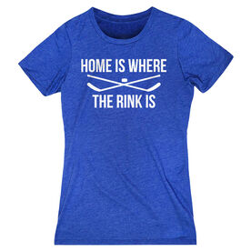 Hockey Women's Everyday Tee - Home Is Where The Rink Is