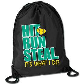 Softball Sport Pack Cinch Sack Hit Run Steal