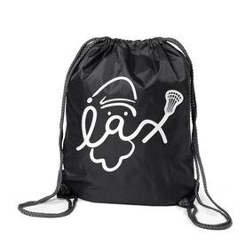 Lacrosse Sport Pack Cinch Sack - Santa Lax Face