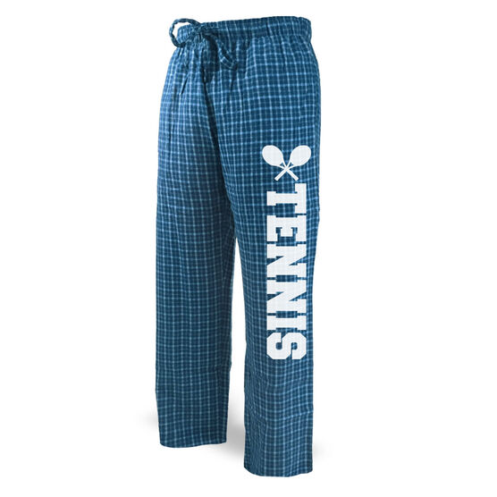 Tennis Lounge Pants Block Font