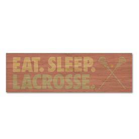 "Girls Lacrosse 12.5"" X 4"" Printed Bamboo Removable Wall Tile - Eat Sleep Lacrosse"