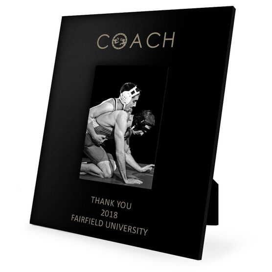 Wrestling Engraved Picture Frame - Coach