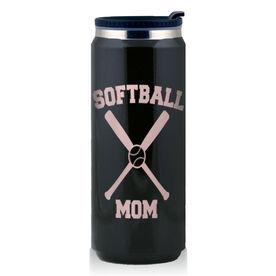 Stainless Steel Travel Mug Softball Mom
