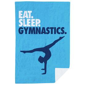 Gymnastics Premium Blanket - Eat. Sleep. Gymnastics. Vertical