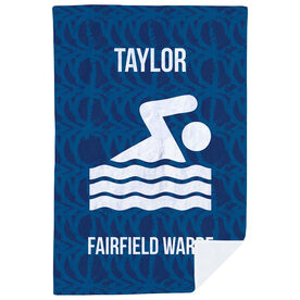 Swimming Premium Blanket - Personalized Team