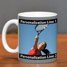 Tennis Coffee Mug Custom Photo with Color
